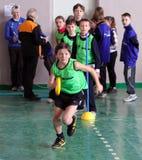 Crianças na competição do atletismo de IAAF Kidâs Fotos de Stock