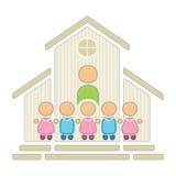 Crianças na escola ilustração do vetor