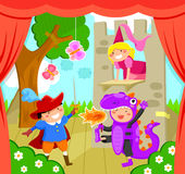 Crianças na fase Imagens de Stock Royalty Free