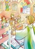 Crianças na massa ilustração royalty free