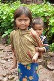 Crianças na pobreza Foto de Stock