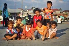 crianças na praia do padang Imagem de Stock