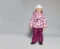 Crianças na roupa do inverno Fotos de Stock Royalty Free