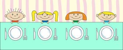 Crianças na tabela Imagem de Stock