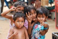 Crianças na vila Imagem de Stock Royalty Free