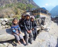Crianças nepalesas Foto de Stock