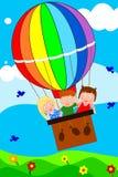 Crianças no balão Fotografia de Stock Royalty Free