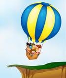 Crianças no balão Imagem de Stock Royalty Free