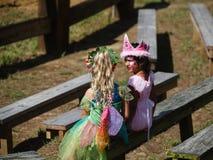Crianças no festival de Maryland do traje imagem de stock