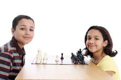Crianças no fundo branco Fotos de Stock Royalty Free