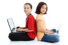 Crianças no fundo branco imagens de stock royalty free