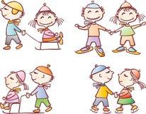 Crianças no inverno Imagens de Stock
