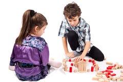 Crianças no jogo Fotografia de Stock