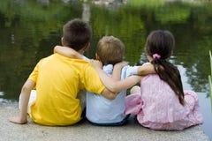Crianças no parque fotografia de stock