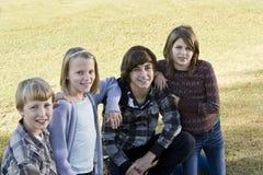 Crianças no parque Imagem de Stock Royalty Free