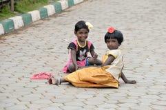 Crianças no parque Foto de Stock Royalty Free