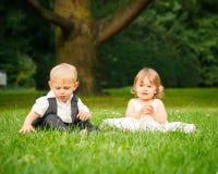 Crianças no parque Fotografia de Stock Royalty Free