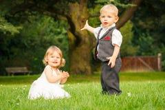 Crianças no parque Fotos de Stock Royalty Free