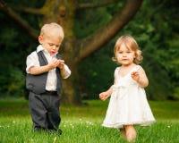 Crianças no parque Imagem de Stock