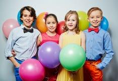 Crianças no partido fotografia de stock