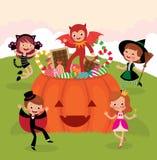 Crianças no partido de Halloween Foto de Stock