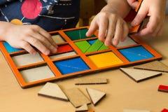 Crianças no pla da escola primária ou da escola júnior ou da guarda Imagem de Stock