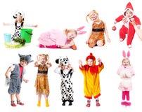 Crianças no vestido extravagante Imagens de Stock Royalty Free