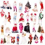 Crianças no vestido extravagante Fotografia de Stock Royalty Free