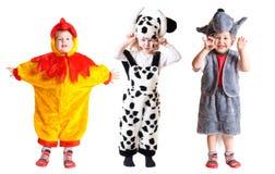 Crianças no vestido extravagante Foto de Stock Royalty Free