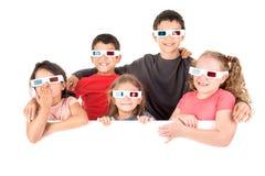 Crianças nos filmes Fotos de Stock Royalty Free