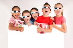 Crianças nos filmes Fotos de Stock