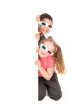 Crianças nos filmes Fotografia de Stock