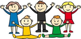 Crianças olímpicas Imagem de Stock Royalty Free
