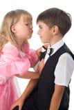 Crianças. Pares fascinantes. Fotos de Stock Royalty Free