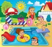 Crianças pela imagem 2 do tema da associação ilustração stock
