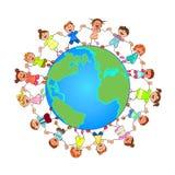 Crianças pequenas ao redor do mundo Fotografia de Stock