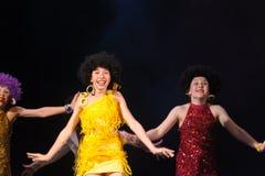 Crianças que dançam na fase Fotografia de Stock Royalty Free