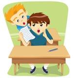 Crianças que enganam a tarefa de atrás Imagens de Stock