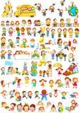 Crianças que fazem atividades diferentes do divertimento ilustração do vetor
