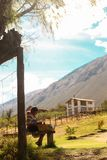 Crianças que fazem ofícios, Peru Fotos de Stock