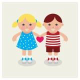 Crianças que guardam o coração. Fotografia de Stock Royalty Free