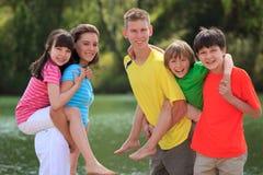 Crianças que jogam ao ar livre Imagens de Stock Royalty Free