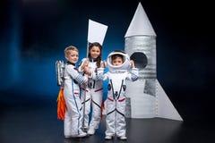 Crianças que jogam astronautas Imagem de Stock