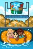 Crianças que jogam em um waterpark Fotos de Stock Royalty Free