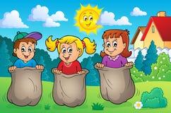 Crianças que jogam a imagem 2 do tema Foto de Stock