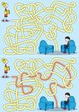 Crianças que leem o labirinto fotos de stock