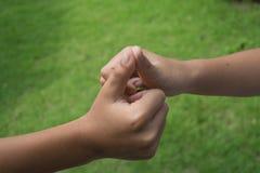Crianças que prendem as mãos Imagem de Stock Royalty Free