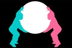 Crianças que prendem a esfera ilustração do vetor