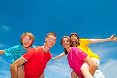 Crianças que têm o divertimento Fotos de Stock Royalty Free