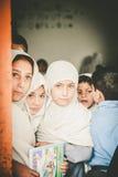 Crianças que vêm à escola em Skardu, Paquistão Imagens de Stock